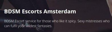 Amsterdam Eskortagentur | BDSM  Escorts Amsterdam